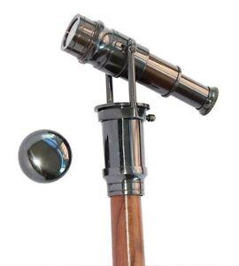 Latest Collection Of Brass Walking Cane Vintage Walking Stick Folding Spy Telescope Wooden Stick Maritime Telescopes