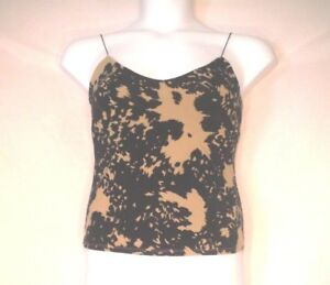 8f80ae23d19c25 Image is loading Victorias-Secret-Camisole-Top-Medium-Black-Tan-Abstract-
