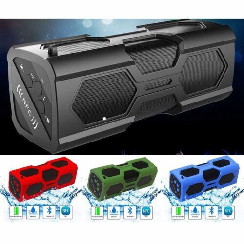 Waterproof Wireless Bluetooth 4.2 Speakers FM Portable Subwoofer Super Bass NFC