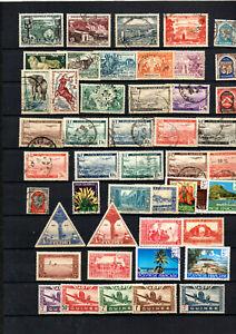 47-timbres-anc-colonies-Tchad-Gabon-Oubangui-Algerie-neufs-aerien-Guin