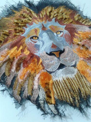 Lion gran parche bordado hecho a mano para respaldo Chaqueta de motorista