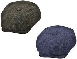 Homme Baker Boy Casquettes Newsboy Hat Style Country patraque oeillères chapeau/plat Cap