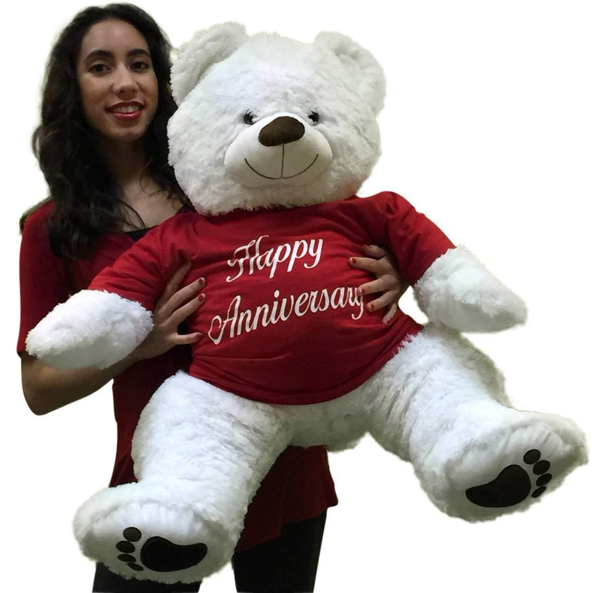 Happy Anniversary Giant Teddy Bear 36 inches Soft Wears HAPPY ANNIVERSARY Tshirt
