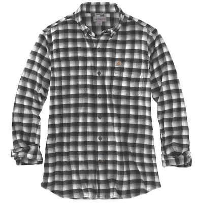 Army Green 301 Rugged Flex Hamilton Plaid Flannel Shirt Carhartt 103314C