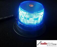 Blaue LED Rundumleuchte Warnleuchte Blitzleuchte + Magnetfuss 12V Zigar Stecker