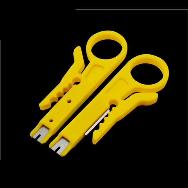 Strip Data Cable Wire Punch Down Cutter Stripper Home Equipment Plastic Yellow