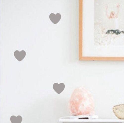 Petits Coeurs Autocollants Muraux Amovible Décoration Papier Peint autocollants fille chambre