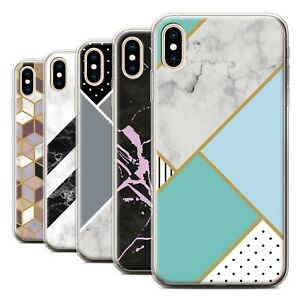 Gel-TPU-Case-for-Apple-iPhone-XS-Max-Geometric-Marble-Pattern
