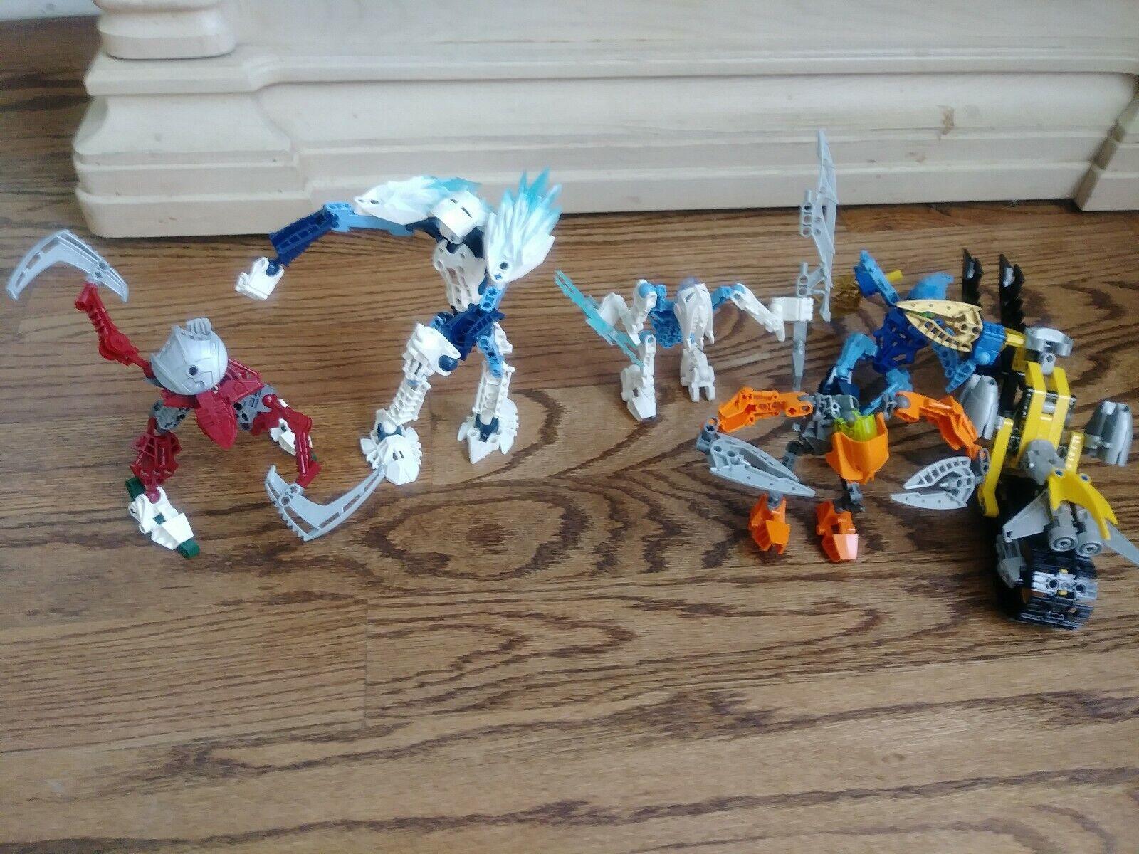 BIONICLE Lot de 5 LEGO Transformers avec armes et véhicules