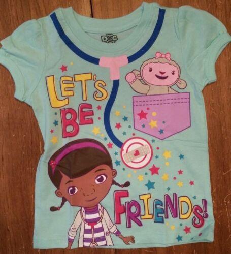 New DOC MCSTUFFINS  YOUTH KIDS GIRLS  LET/'S BE FRIENDS  T SHIRT