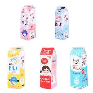Simulation-Milk-Cartons-Pencil-Case-PU-Pouch-Pen-Bag-Supplies-Stationery-L8D5