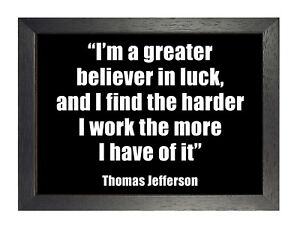 503 Motivational Inspirational Work Quotes Poster Believe Luck