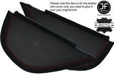 RED Stitch 2x lato DASH PANEL Trim in pelle copre gli accoppiamenti VW GOLF MK6 6 VI 08-12