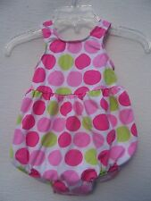 The Original Flap Happy Infant Baby Pink Green Polka Dot 1 Piece Bathing Suit 6M
