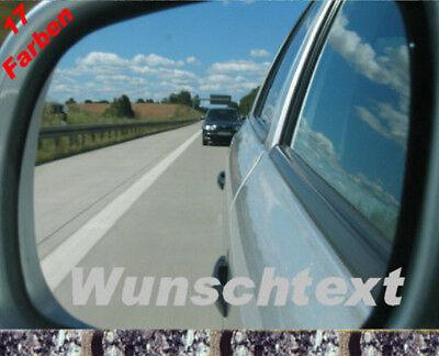 2x Wunschtext Wunschlogo Spiegelaufkleber BMW 3er M Alpine  VAG GTI R line