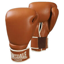 Lonsdale Authentic Spar Training Leather Boxing Gloves 12oz Punch Pad Bag Mitt