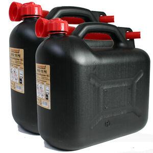 2x benzinkanister 10l schwarz benzin kanister 10 liter. Black Bedroom Furniture Sets. Home Design Ideas