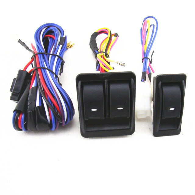 12v 12 volt car electric power window master control switch with rh ebay com lightforce 12-volt wiring harness and relay kit universal 12 volt wiring harness