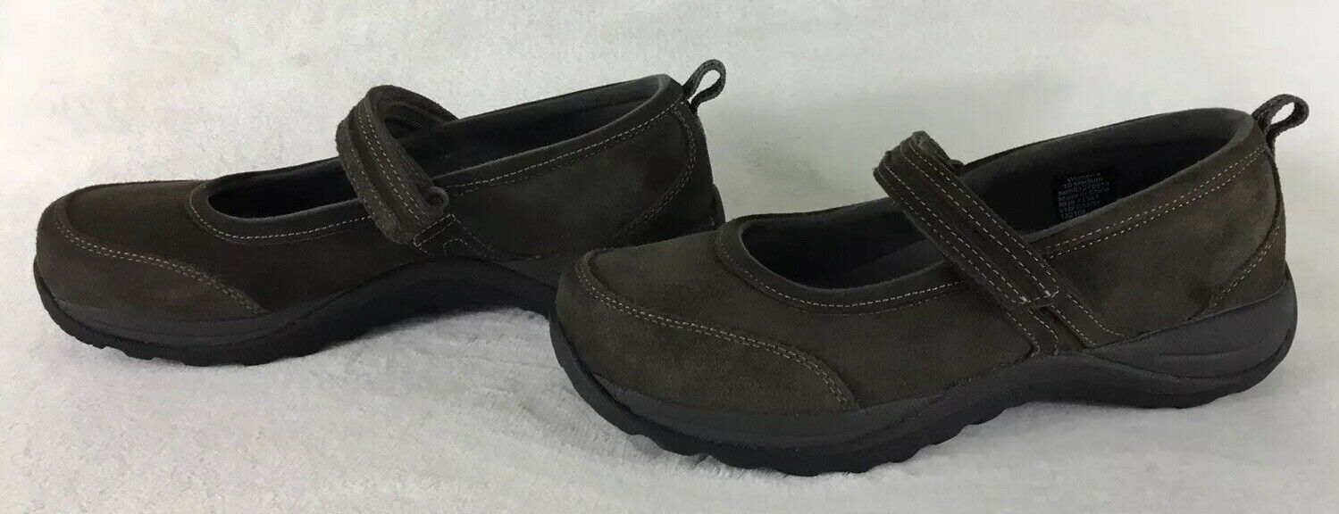 LL BEAN Brown Suede Comfort Mocs Mary Jane shoes 278614 Women's Size 10 Medium