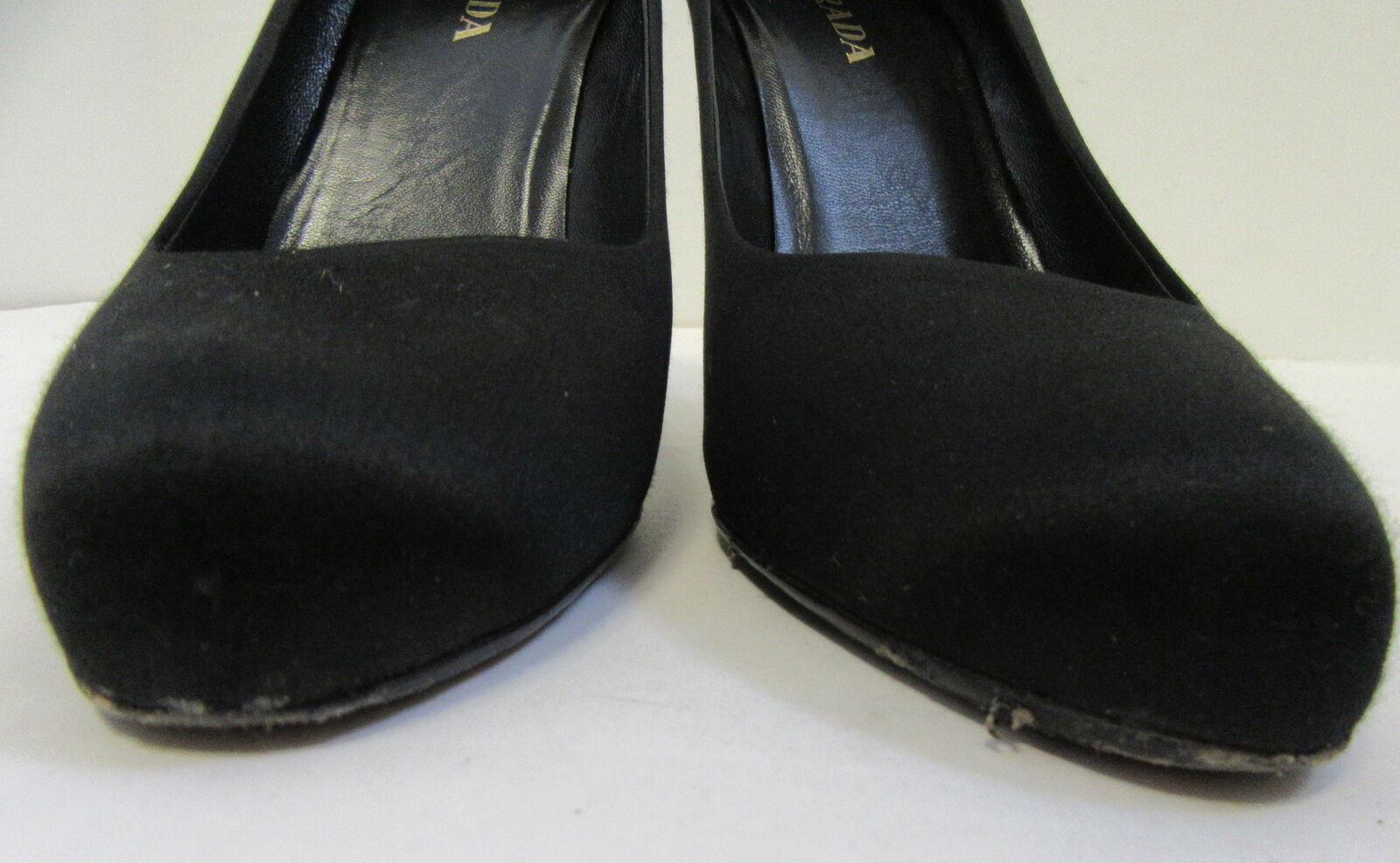 PRADA Black Satin Pumps Size 40 40 40 add676