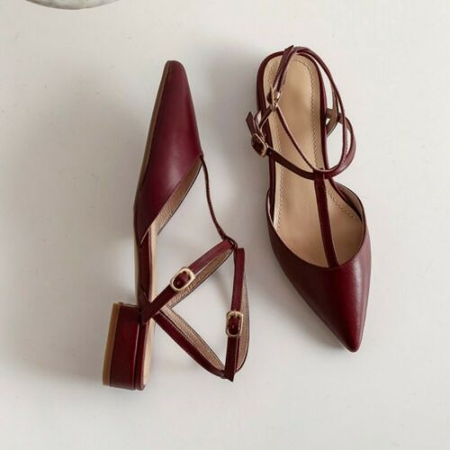 Details about  /Chic Women Slingback Pointy Toe Buckle Strap Sandals Office Dress Summer Shoes B