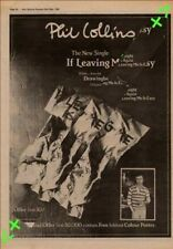 Phil Collins If Leaving Me Is Easy Genesis Advert NME Cutting 1981