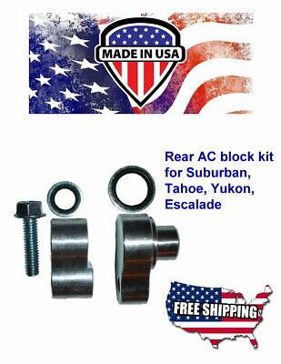 New rear A//C Block Off Kit 2000-2013 Chevy Tahoe /& GMC Yukon CNC USA Made