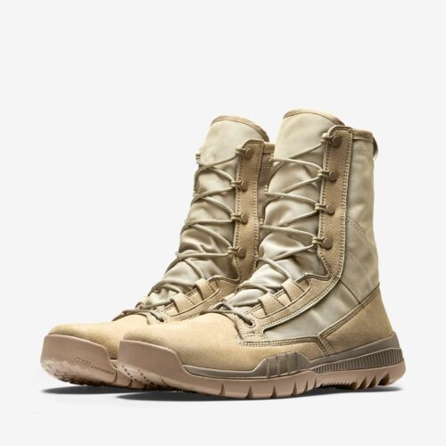 "Nike SFB Field 8/"" Mens Tactical Boots Sz 7.5-13 British Khaki Brown 631371 220"