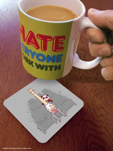 Funny Coaster Drinks Mat Cute Comedy Humour Novelty Cheap Present Birthday Gift