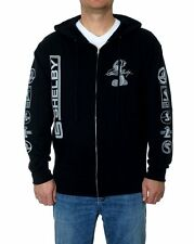 "Shelby Cobra Zip Hoodie Mens Jacket Sweatshirt Black Printed Shelby Logos ""SALE"