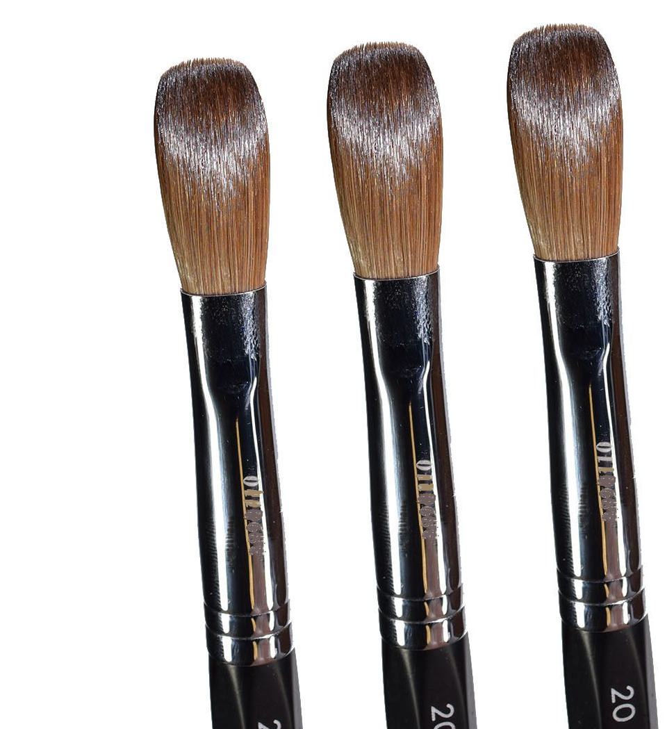 Six Angles- Black Petal Kolinsky Acrylic Nail Brush for Manicure ...