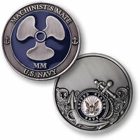 Us Navy Machinist's Mate Challenge Coin Mm Rating Rate Snipe Usn Petty Officer