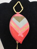 Fossil Rose Print Leather Feather Zip Keyfob Handbag Charm Mini Wallet Sl7075