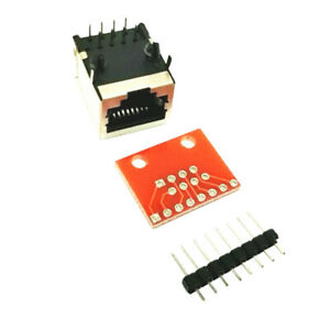 RJ45 8-P Pin Connector PCB and Breakout Board Adapter for Check Ethernet