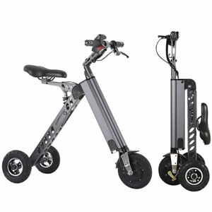 Details about 250W Electric 3-wheels Bike Folding Brushless Motor Trike for  adults Tricycle