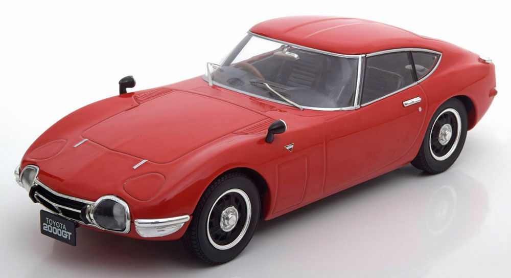Triple 9 1967 Toyota 2000 GT Gloss Red color 1 18New ItemRare