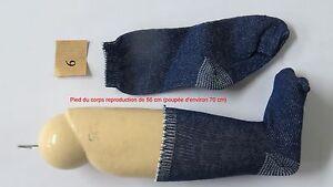"""Chaussettes Bleu fonçé Taille 6  Ref  """" 6BU """"   poupées de 60 à 80 cm"""