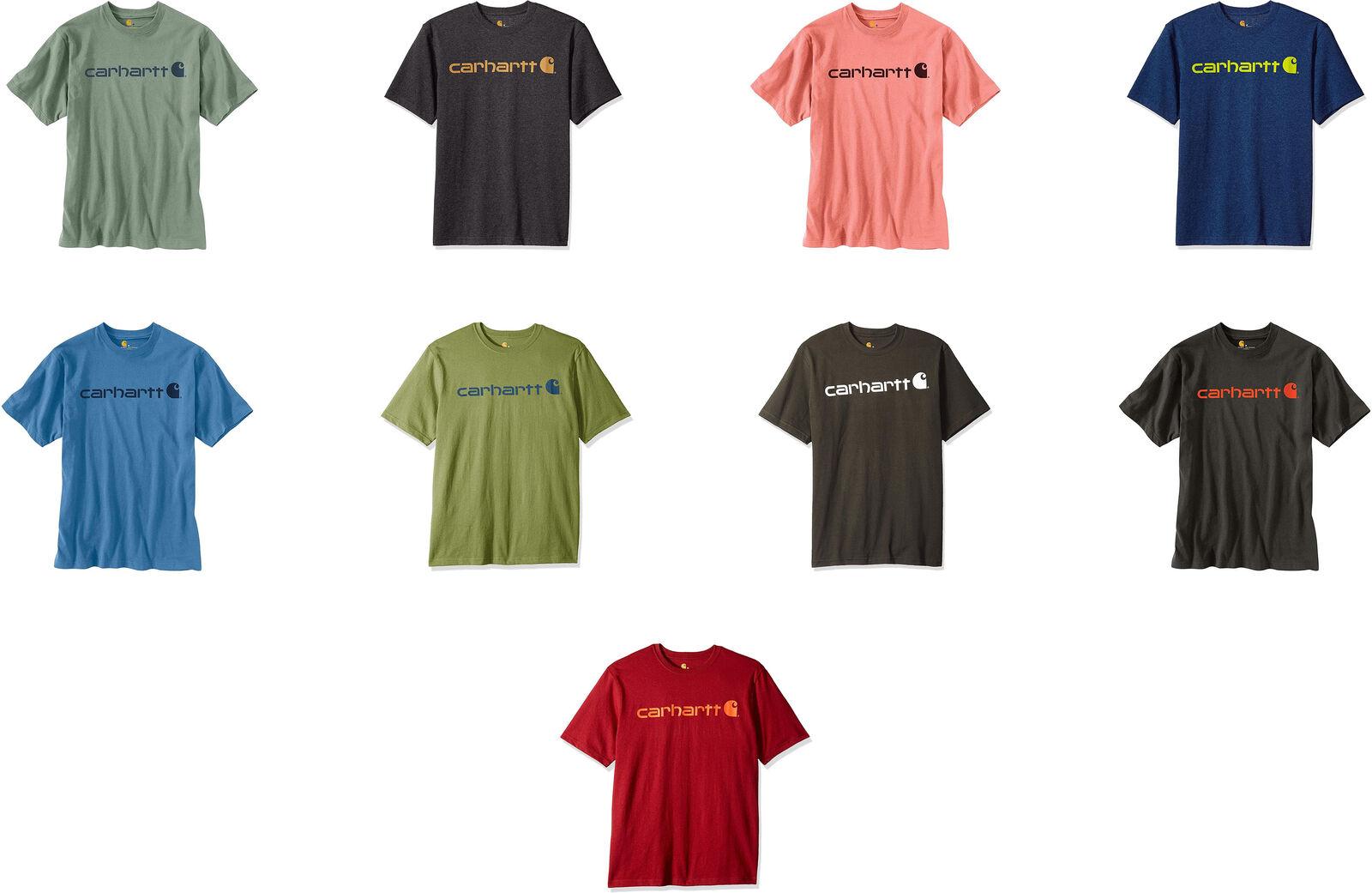 Carhartt Mens K195 Workwear Logo Short Sleeve T-Shirt