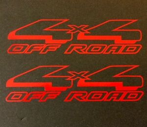 2 BLACK 4X4 4WD DECAL STICKER TRUCK SUV FORD CHEVY DODGE TOYOTA GMC LOGO BADGE