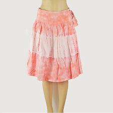 $50 New VICTORIA'S SECRET Tie Dye Cotton Yoke Waist Knee Wrap Full Skirt 6 Small