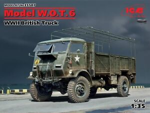 Capable Icm 35507 - 1:3 5 Modèle W. O.t.6 - Seconde Guerre Mondiale British Truck - Neuf Construction Robuste