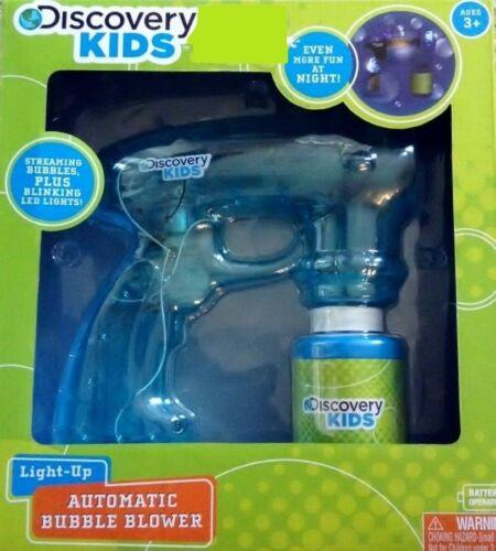 Discovery Kids Aqua Light-Up Automatic Bubble Blower w//Blinking Led Lights NEW
