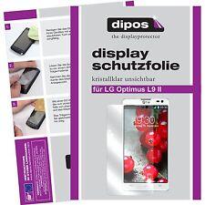2x LG Optimus L9 2 Protector de Pantalla protectores transparente