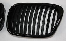 GRILL FRONTGRILL KÜHLERGRILL SET BMW E39 5er SCHWARZ GLANZ BLACK GLOSSY Li + Re