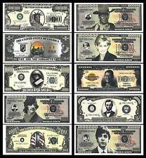 USA US 10 PCS DIFFERENT SET 1 MILLION 1,000,000 1000000 $ 2001 MISS LIBERTY