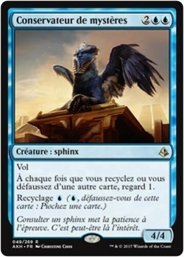 Curator of Mysteries//Conservateur de mystères MTG Magic AKH French//VF