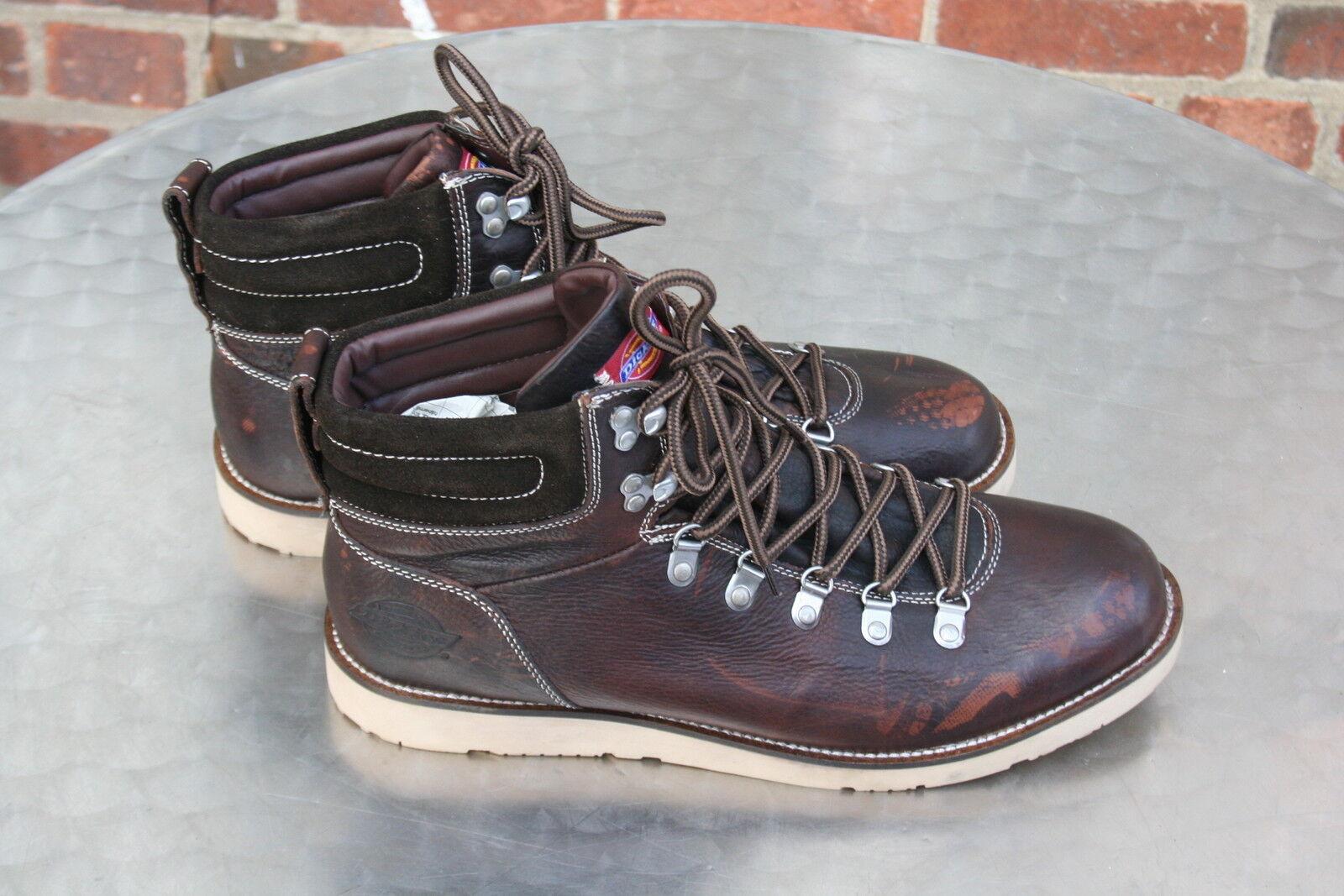 Dickies Stiefel halbhoch dunkel braun Gr.46 Leder Man Boots     -ungetragen-