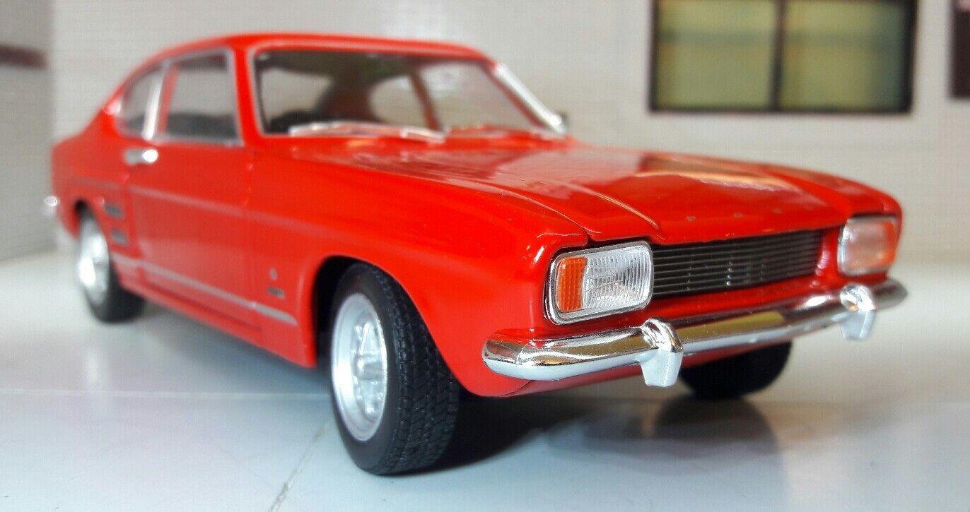 Ford Capri Mk1 1.3 1.3 1.3 1.6 V6 1969 1 24 Scale Red Welly V Detailed Diecast Model Car 299741