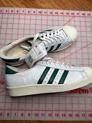 adidas superstar 80s white green