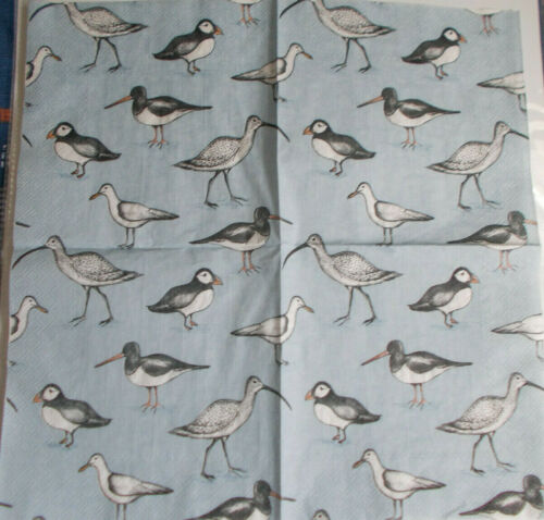 33cm Ideal for Decoupage or TableWare NEW 4 x Sea Birds Paper Napkins 3-Ply
